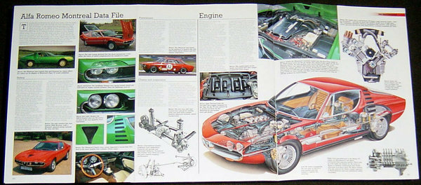 1973 Alfa Romeo Montreal - technical cutaway drawing