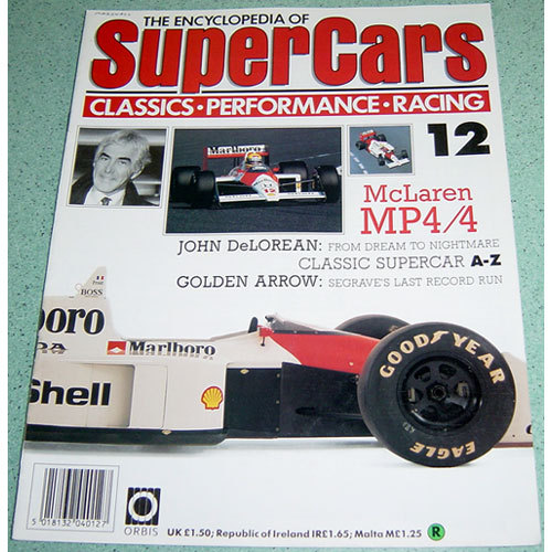 McLaren MP4/4 / John DeLorean - Supercars # 12