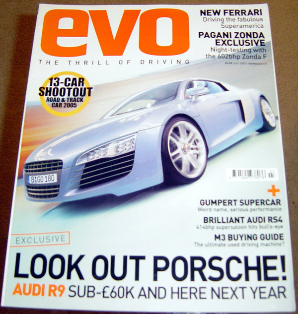 Evo 81 Audi R8 Rs4 Pagani Zonda F Gumpert Atom Superamerica Buy