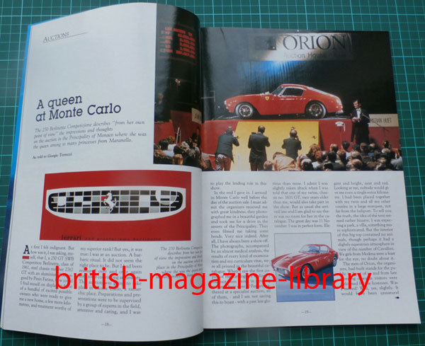 Ferrari World Issue # 5 - Ferrari 250 GT SWB Competition 250 GT California  F40 Enzo Enrico Nardi
